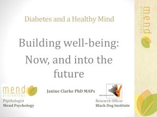Diabetes and a Healthy Mind