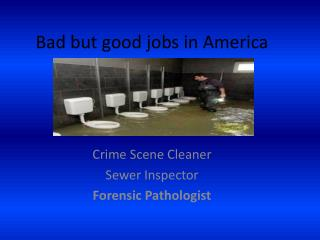 Bad but good jobs in America