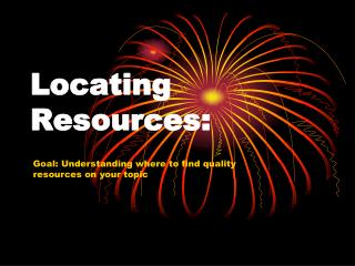 Locating  Resources: