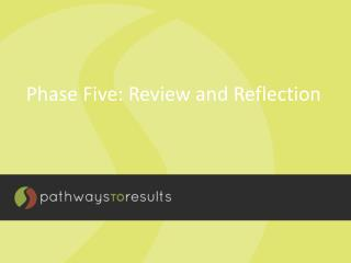 Phase  Five: Review and Reflection