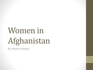 Women in Afghanistan
