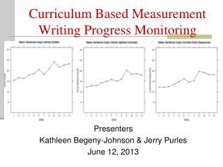 Curriculum Based Measurement Writing Progress Monitoring
