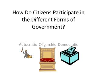 How Do Citizens Participate in the Different Forms of Government?