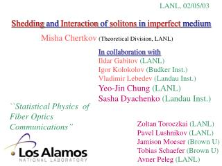 Shedding and Interaction of solitons in imperfect medium