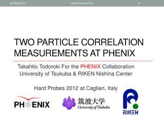Two particle correlation measurements at PHENIX