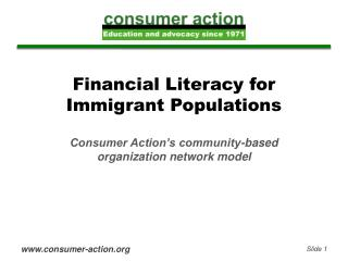 Financial Literacy for Immigrant Populations