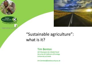 """Sustainable agriculture"": what is it?"