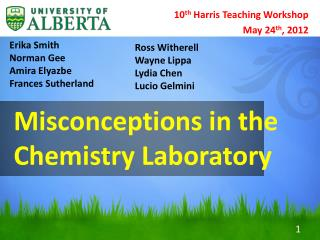 Misconceptions in the Chemistry Laboratory