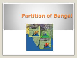 Partition of  Bangal