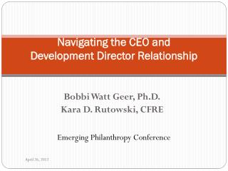 Navigating the CEO and Development Director Relationship