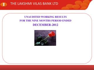 THE LAKSHMI VILAS BANK LTD