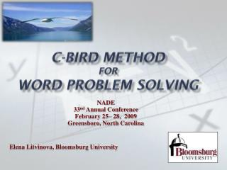 C-BIRD Method  for Word problem solving