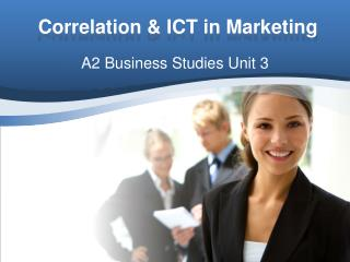 Correlation & ICT in Marketing