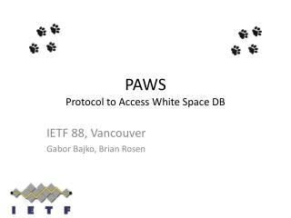 PAWS Protocol to Access White Space DB