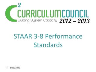 STAAR 3-8 Performance Standards