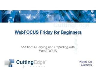 WebFOCUS Friday for Beginners