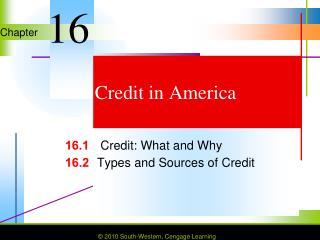 Credit in America