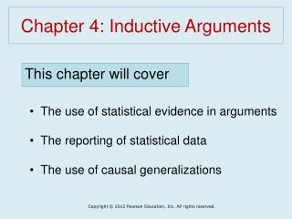 Chapter 4: Inductive Arguments