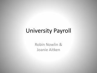 University Payroll