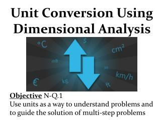 Unit Conversion Using    Dimensional Analysis Objective  N-Q. 1
