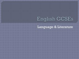 English GCSEs