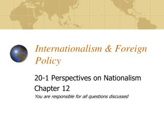Internationalism & Foreign Policy