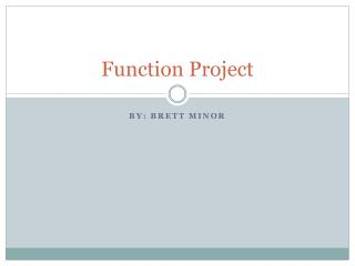 Function Project