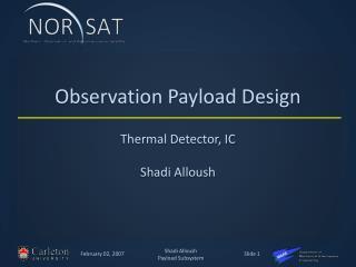 Observation Payload Design