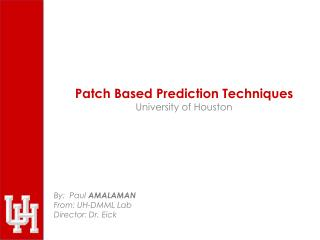 Patch Based Prediction Techniques University of Houston