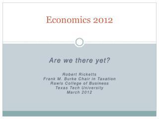 Economics 2012