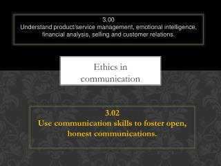 Ethics in communication