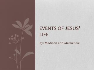 Events of Jesus' life