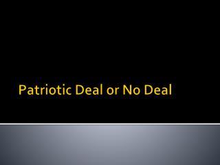 Patriotic Deal or No Deal