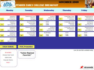 PENDER EARLY COLLEGE BREAKFAST