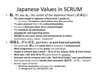 Japanese Values in SCRUM