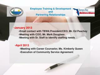 Employee Training & Development and Partnering Relationships