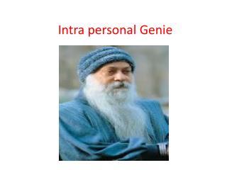 Intra personal Genie