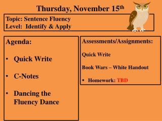 Thursday,  November  15 th