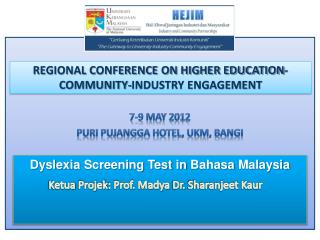 REGIONAL CONFERENCE ON HIGHER EDUCATION-COMMUNITY-INDUSTRY ENGAGEMENT