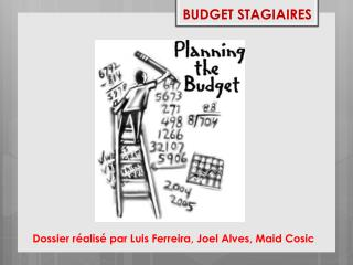 BUDGET STAGIAIRES