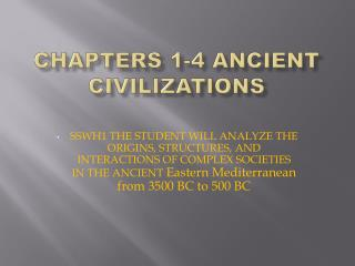 Chapters 1-4 Ancient Civilizations