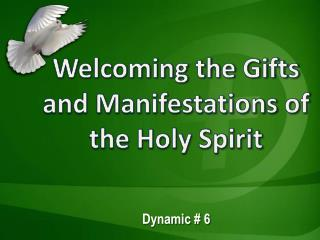 Welcoming the Gifts and Manifestations of the Holy Spirit