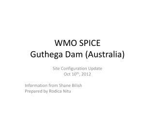 WMO SPICE Guthega Dam (Australia)