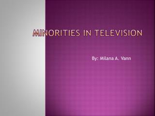 Minorities in Television