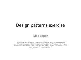 Design patterns exercise