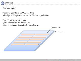 Previous week Nanowire  growth on  ZnO:Al  substrate