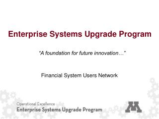 Enterprise Systems Upgrade Program