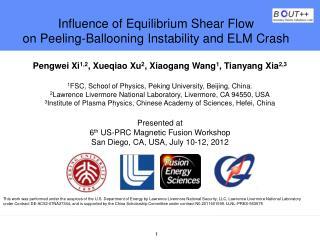 Influence of Equilibrium Shear Flow  on Peeling-Ballooning Instability and ELM Crash