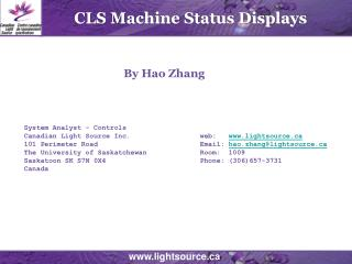 CLS Machine Status Displays