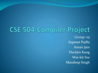 CSE 504-Compiler Project
